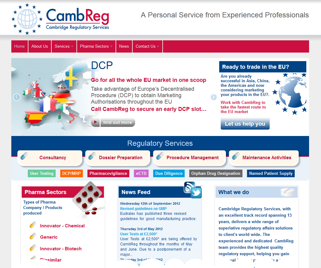 Realnet are pleased to have worked with CambReg in designing and developing their new website: