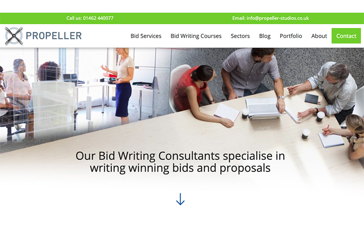 Bid Consultancy Services company Propellor Studios has a brand new website...