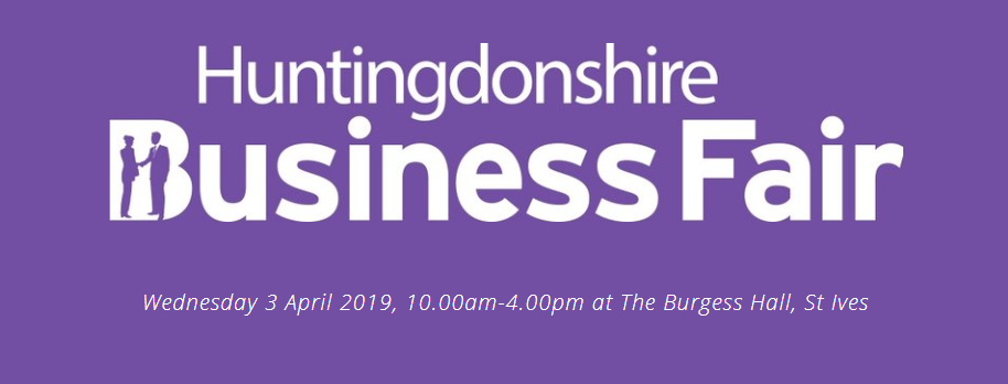 We will be at the Huntingdonshire Business Fair this Wednesday.
