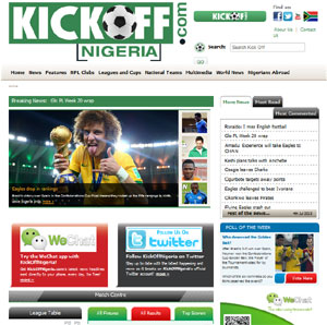 Realnet are pleased to announce the launch of kickoffnigeria.com!