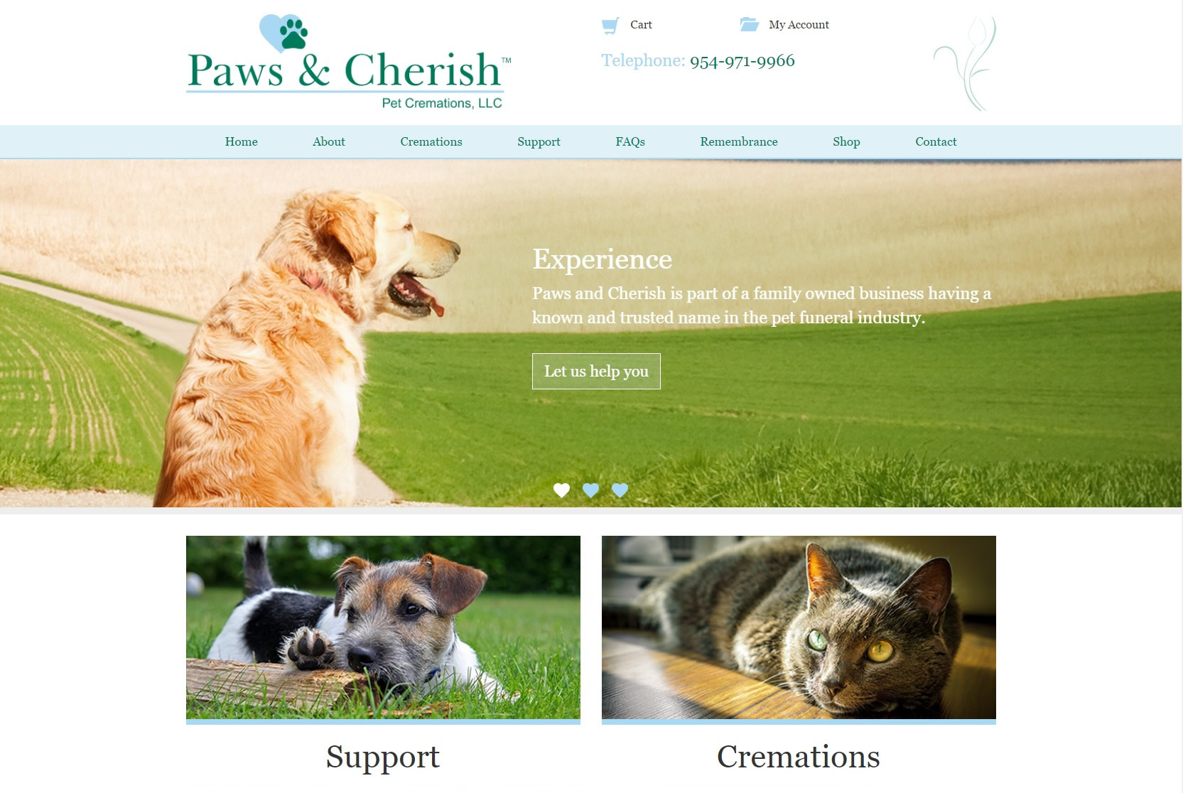 A trusted name in the pet funeral industry based in the US with affiliates in the UK.