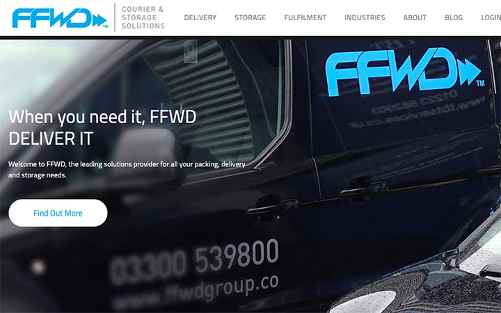 We are thrilled to announce a new website launch for our client FFWD Courier & Storage Solutions