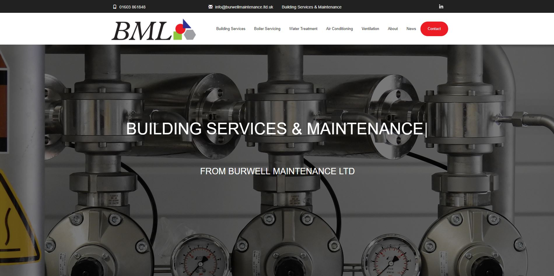 This week Burwell Maintenance Limited's new website has gone live.