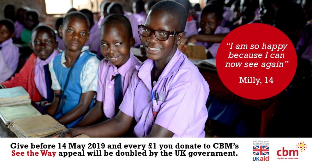 We are thrilled to be supporting overseas disability charity CBMs new appeal to help people...