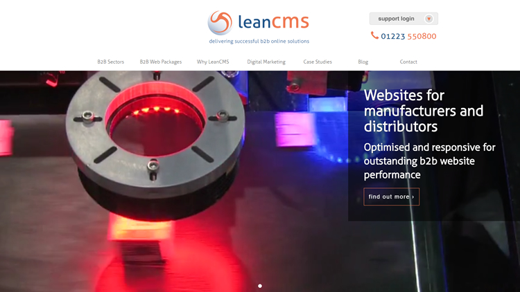 Its here! The new| more informative LeanCMS website