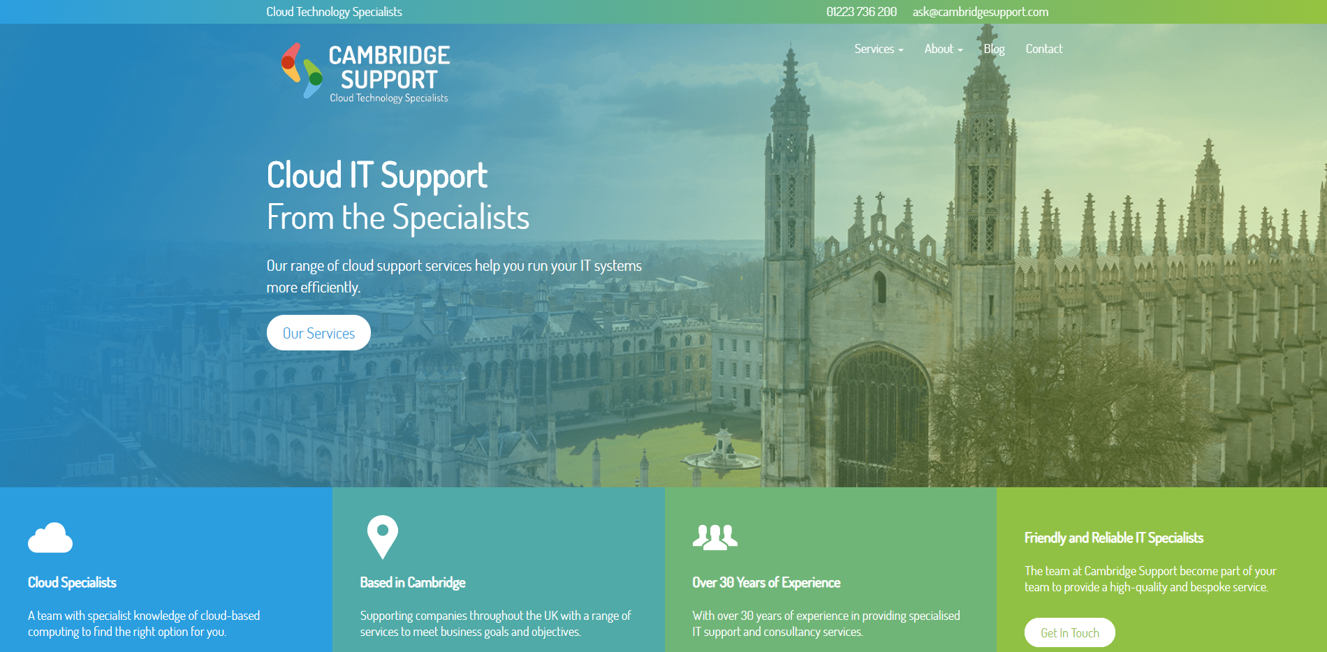 We are excited to announce we have launched a brand new website for Cambridge Support.