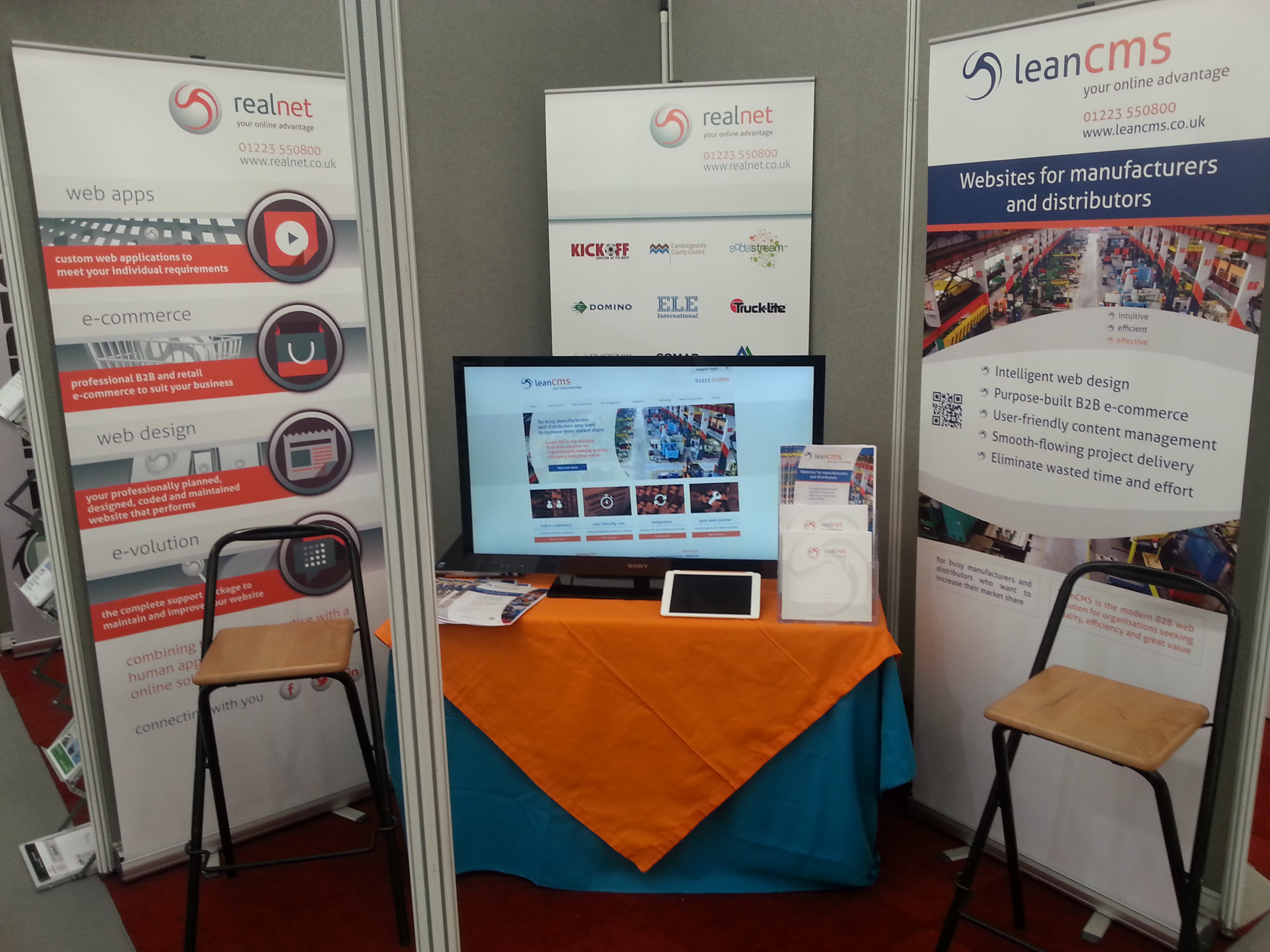 Realnet are exhibiting the LeanCMS platform at the Southern Manufacturing & Electronics Exhibition