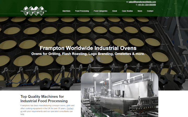 Realnet is pleased to launch our client Frampton Worldwide's new website