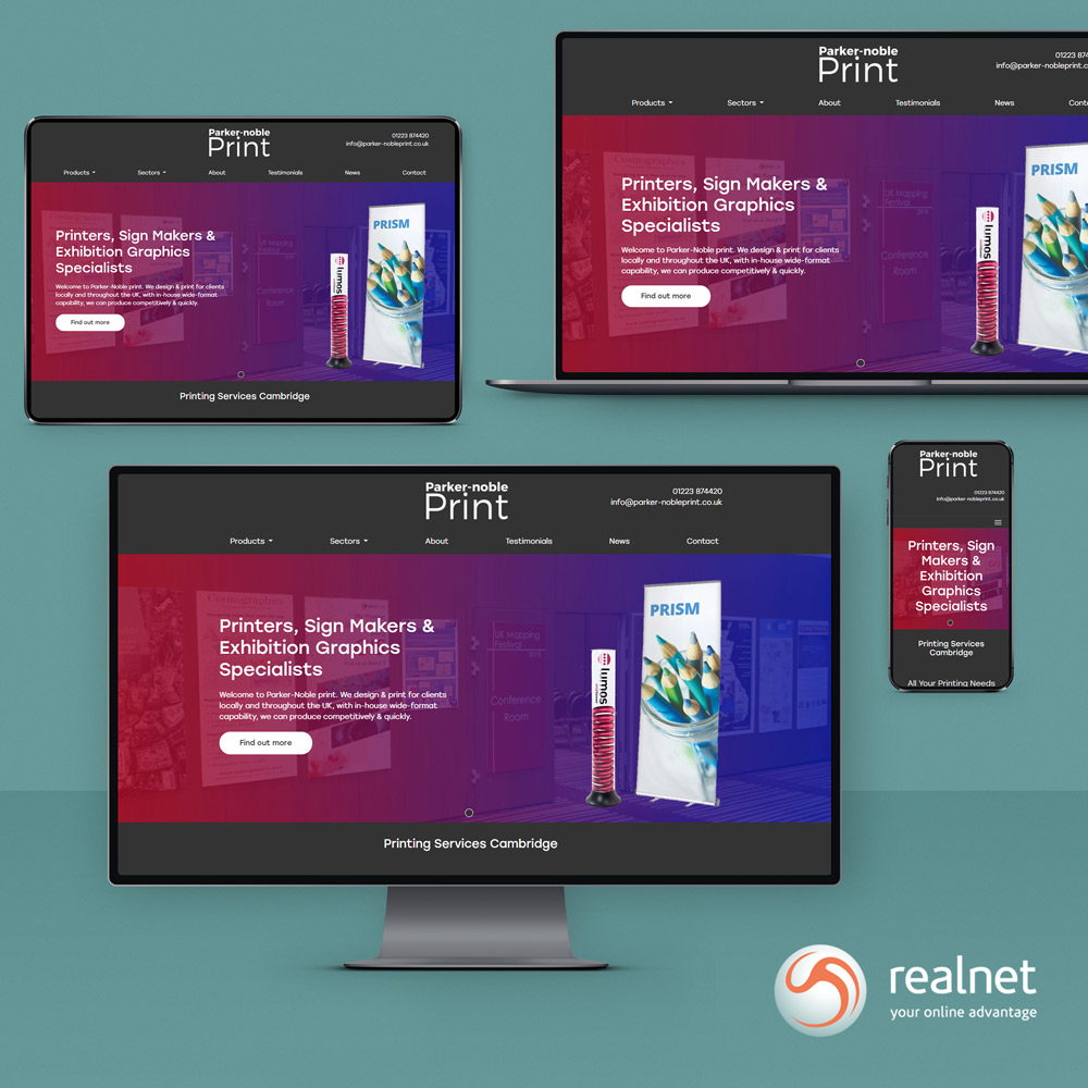 Realnet is thrilled to announce the go-live of our latest client website, Parker-Noble Print.
