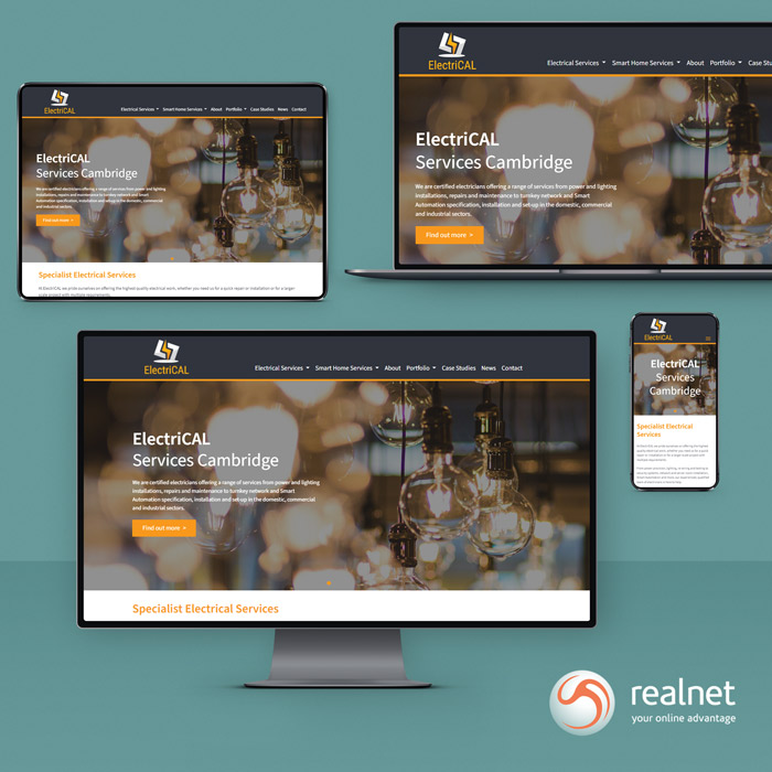 Realnet is really pleased to announce the live launch of our new client website for specialized electrical services company ElectriCAL.