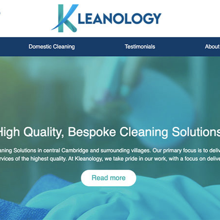 Realnet is thrilled to launch a brand new client website for Kleanology.